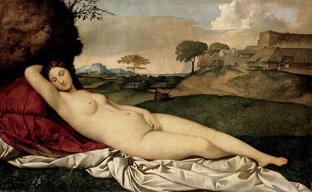 Giorgione Venus Dormida de Dresde Renacimiento Venecia
