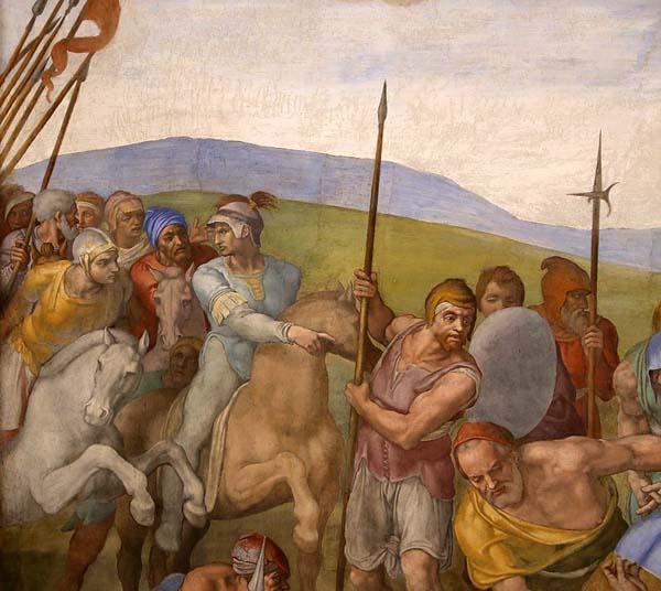 Michelangelo Buonarrotir Roma Pintura Martirio de San Pedro Vaticano