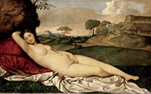 Venus Dormida Dresde Giorgione Pintura Reproducción