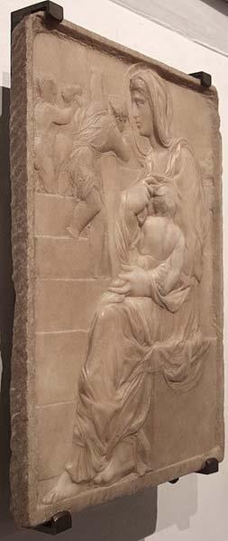 Virgen de la Escalera Michelangelo Buonarroti Renacimiento