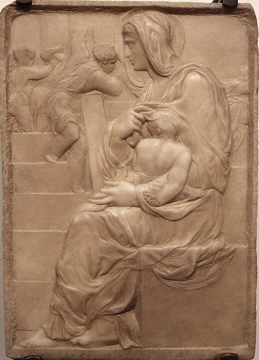 Virgen de la Escalera Miguel Angel Casa Buonarroti