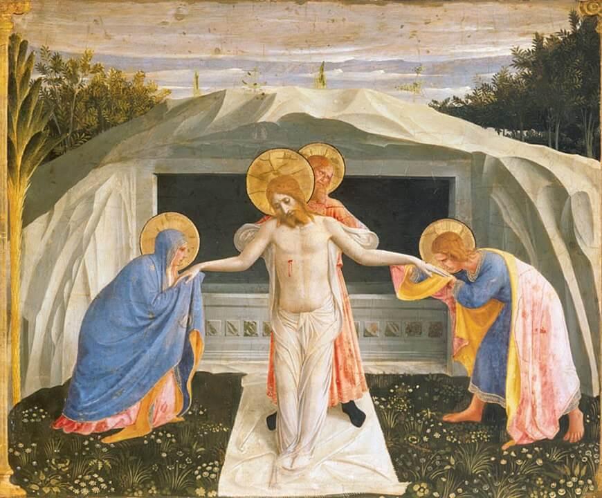 Santo Entierro Fra Angelico San Marcos Pinacoteca de Munich