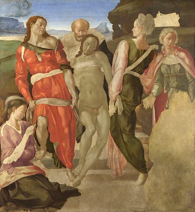 Santo Entierro de Miguel Ángel National Gallery Pintura