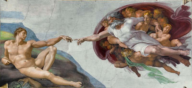Capilla Sixtina Michelangelo Buonarroti Creación de Adán