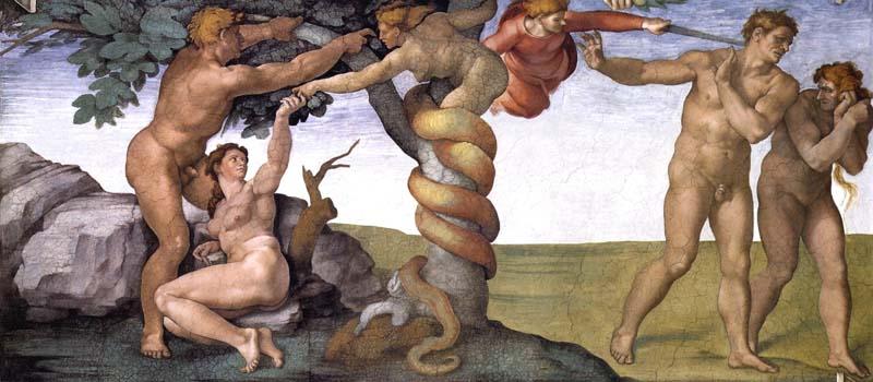 Pecado Original y Expulsión del Paraíso en la Capilla Sixtina Miguel Ángel Buonarroti