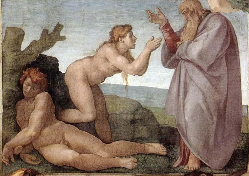 Creación de Eva Capilla Sixtina Michelangelo Buonarroti Vaticano