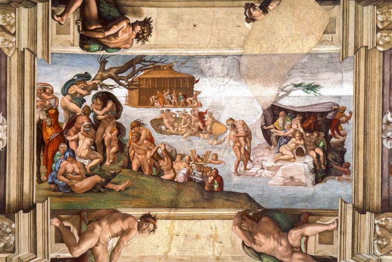 Diluvio Universal Capilla Sixtina Michelangelo Bóveda Renacimiento