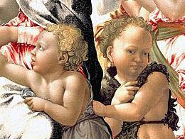 Detalle de la Madonna de Manchester de Michelangelo
