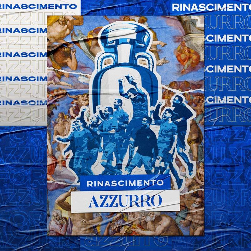 Italia Rinascimento Azzurro Calcio Fútbol Arte Michelangelo